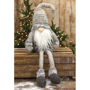 [CHRISTMAS] Dangle Leg Plush Gray Santa Gnome