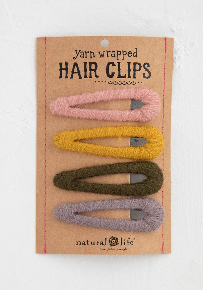 Yarn-Wrapped Hair Clips, Assorted