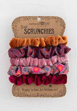 Skinny Printed and Velvet Scrunchies (Multiple colors!)