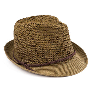 Braided Fedora Hat