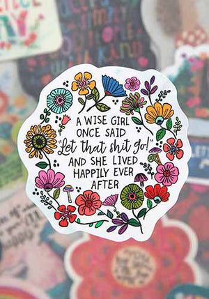 Wise Girl Vinyl Sticker