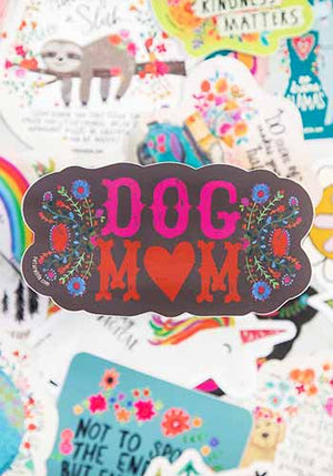 Dog Mom Vinyl Sticker