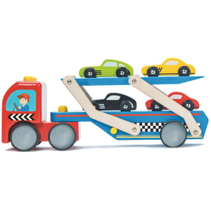 Racecar Transporter Toy Set