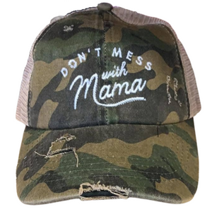 Don't Mess with Mama Camo Trucker Hat