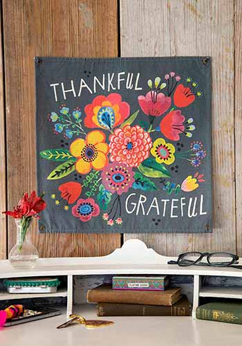 Thankful Mini Canvas Tapestry