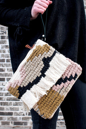 Multicolor Clutch with Wristlet