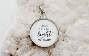 Round Charm Necklace - This Little Light of Mine