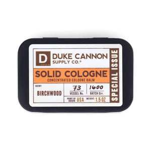 Duke Cannon Solid Cologne - Birchwood