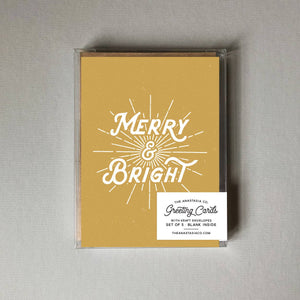 Merry & Bright Card - BOX SET of 5