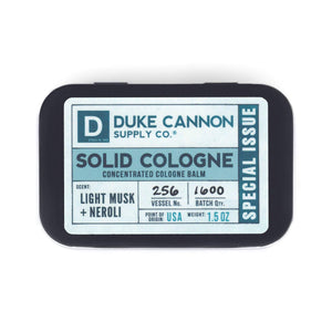 Duke Cannon Solid Cologne - Light Musk + Neroli (Special Issue)
