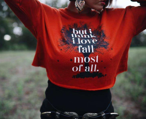 But I Think I Love Fall Cropped Sweatshirt