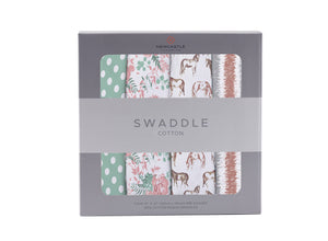 Horses and Roses Swaddle 4 Pack