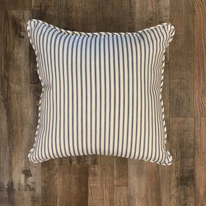 Blue and White Pinstripe Pillow