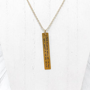 Snarky Sayings Necklace - Lord Please