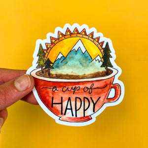 Cup of Happy Sticker