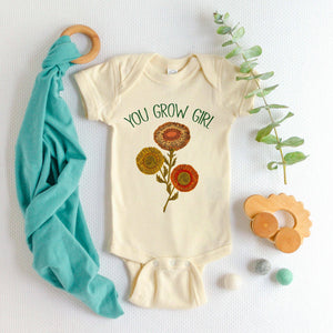 You Grow Girl Onesie
