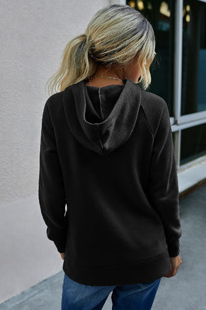 Black Hooded Sweater