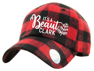 [CHRISTMAS] Red Buffalo Plaid Christmas Vacation Hat