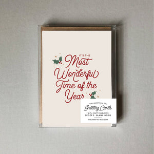 Most Wonderful Time of Year Card - BOX SET of 5