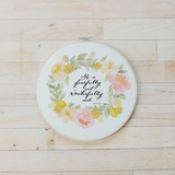 Psalm 139 Faux Embroidery Hoop