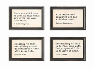 Wood Framed Quote Signs - 4 Styles!