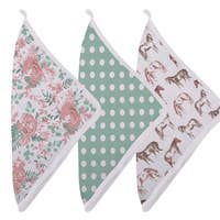 Horses and Roses Washcloth Set