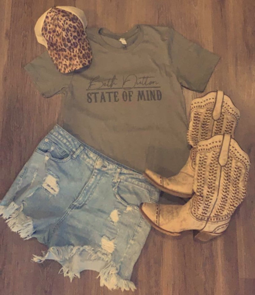 Olive Beth Dutton State of Mind Tee