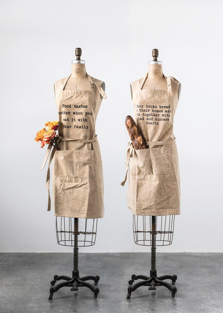 Cotton Canvas Apron w/ Pockets