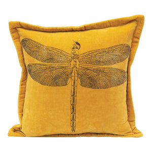 Mustard Dragonfly Pillow
