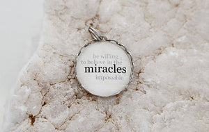 Round Charm Necklace - Miracles