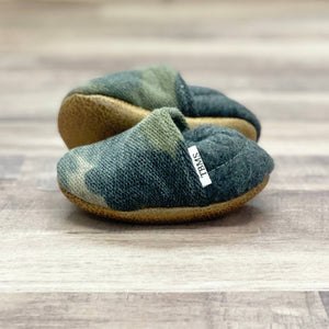 Distressed Knit Camo Baby Moccasins