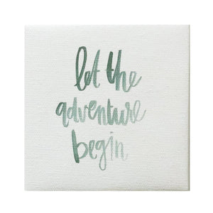 Watercolor Adventure Begin Canvas Magnet