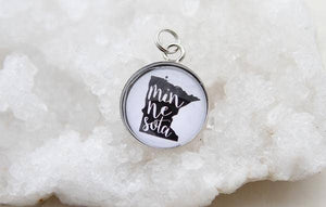 Round Charm Necklace - Minnesota