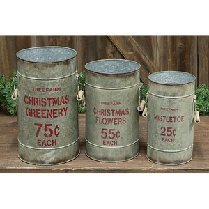 [CHRISTMAS] Tree Farm Buckets