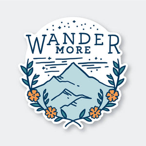Pike St. Press - Wander More Sticker