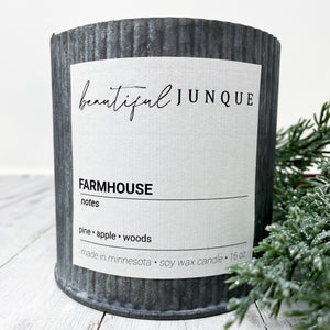 Farmhouse Tin Candle-Large