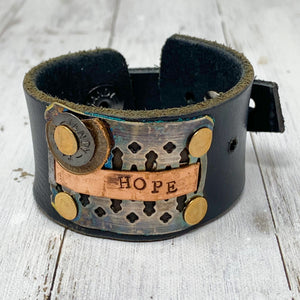 Rejoyed Leather Cuff-Hope