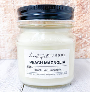 Peach Magnolia Candle-8oz