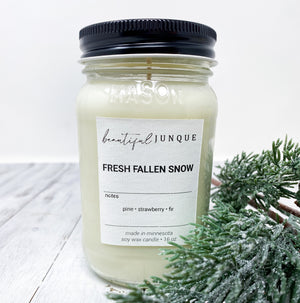 Fresh Fallen Snow Candle-16oz