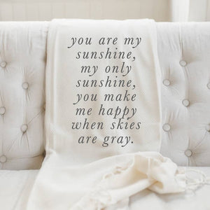 You Are My Sunshine Lightweight Throw Blanket