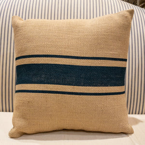 Blue Striped Pillow