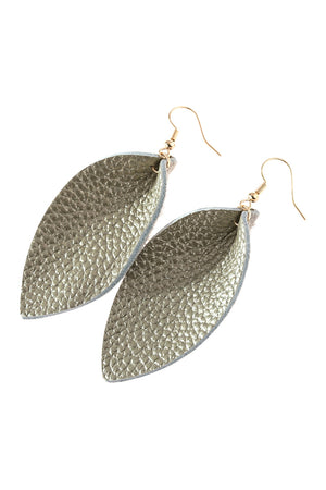 Pinched Teardrop Earring - Gold