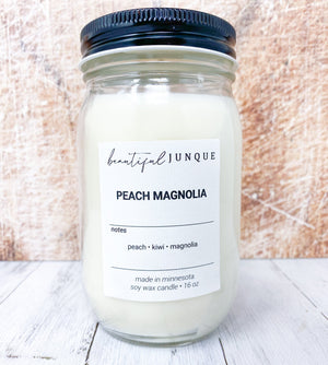 Peach Magnolia Candle-16oz