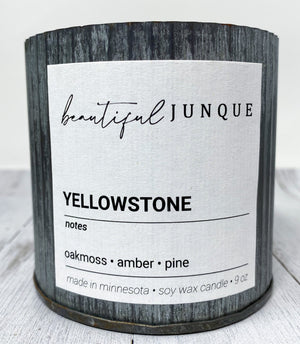 Yellowstone Tin Candle