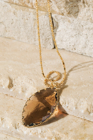 Topaz Crystal Pendant Necklace