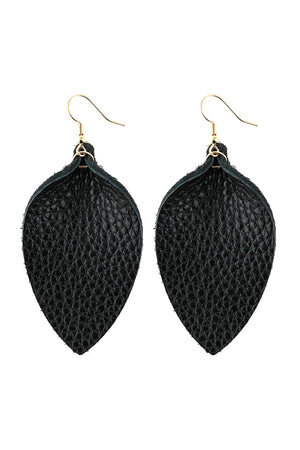 Pinched Teardrop Earring - Black