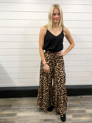 Black and Leopard Jumpsuit