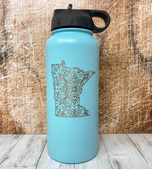 Engraved Minnesota Water Bottle