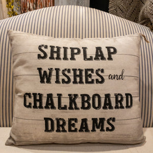 Shiplap Wishes Pillow
