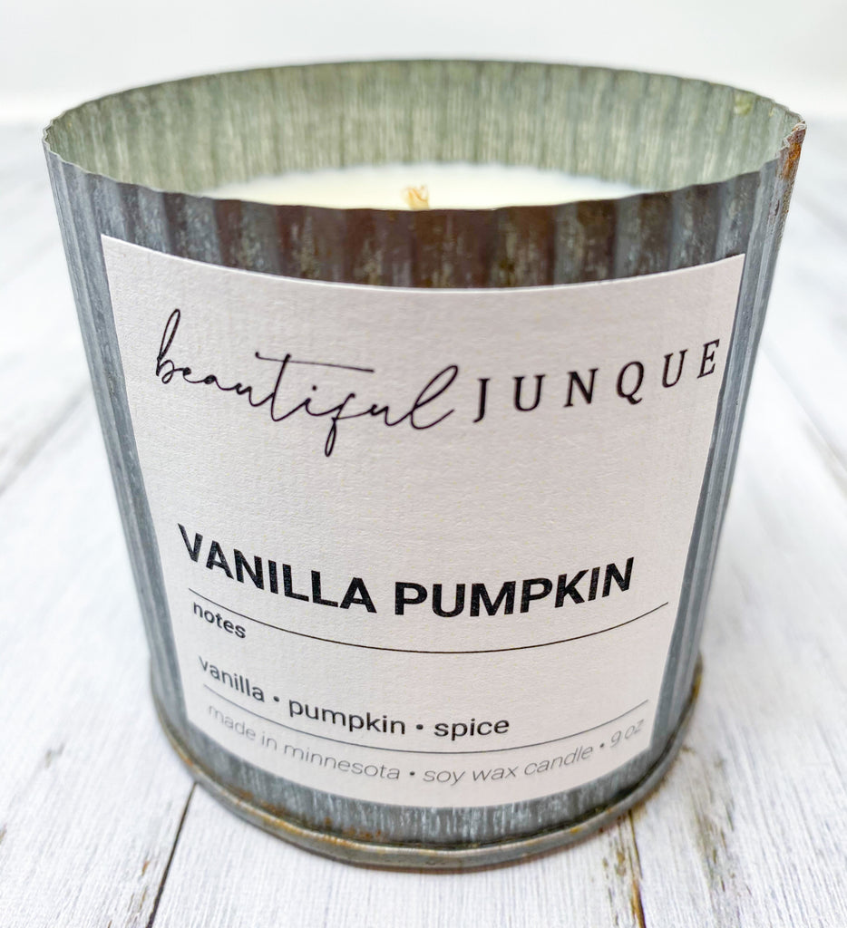 Vanilla Pumpkin Tin Candle